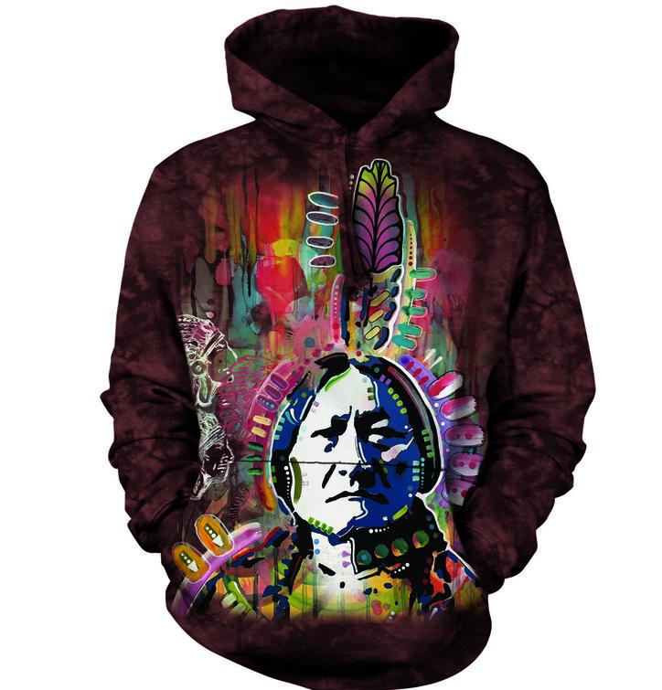 Mikina s kapucí Kreslený indián