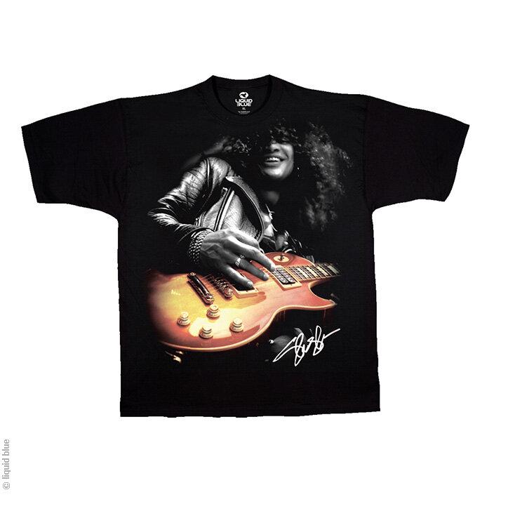 Tip na dárek Černé hudební tričko Slash s kytarou e288cc6a27