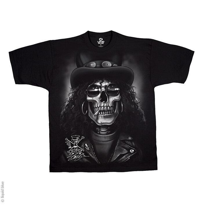 Potěšte se tímto kouskem Dedoles Černé hudební tričko Slash Lebka c253d8e7c9