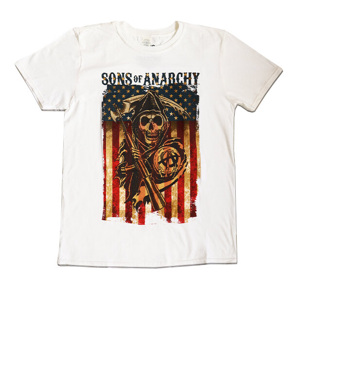 T Shirt Sons Of Anarchy Colour Flag Dedoles