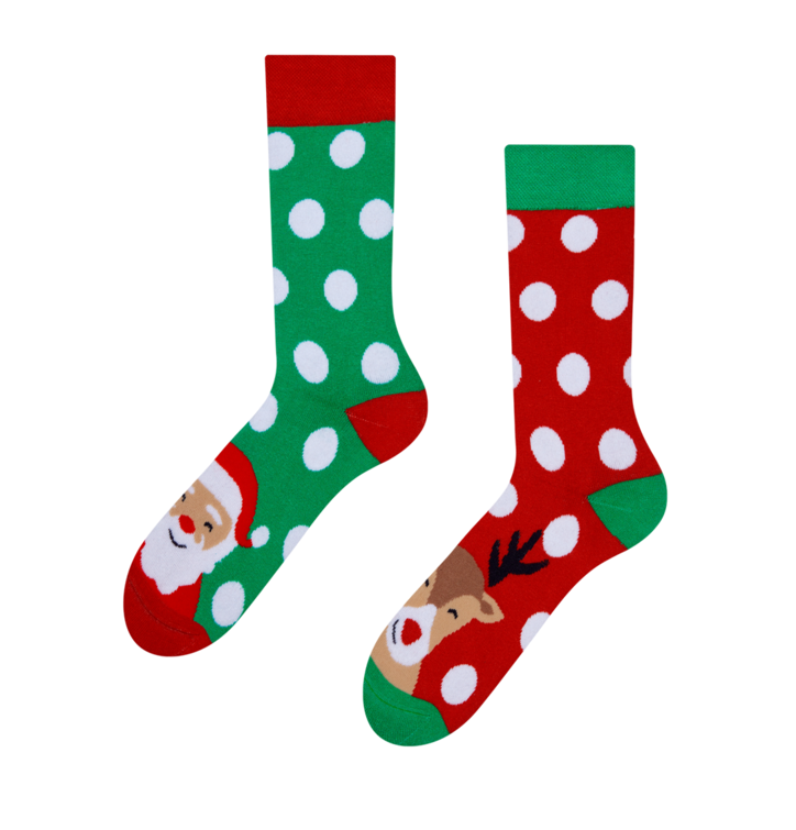 Good Mood Warm Socks Santa & Rudolph