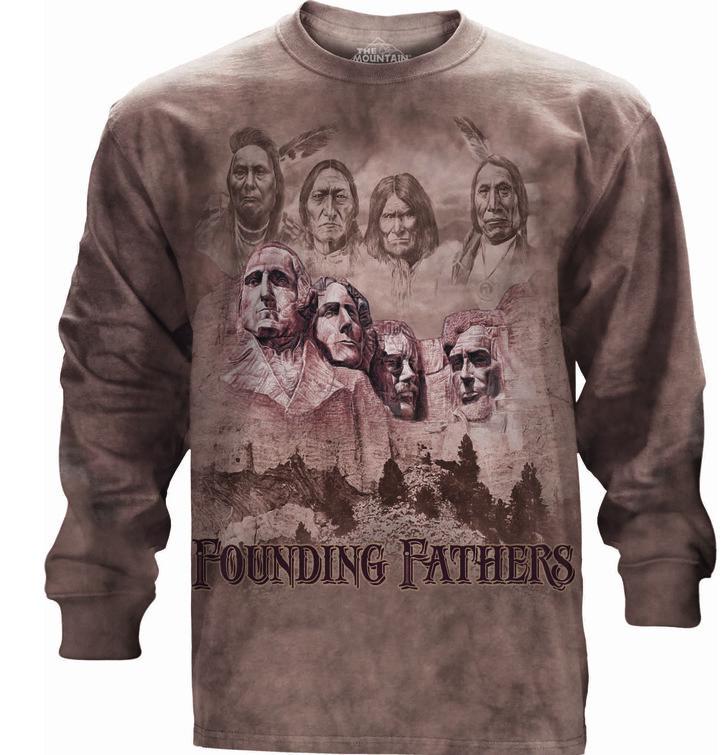 Tričko s dlhým rukávom Otcovia zakladatelia USA