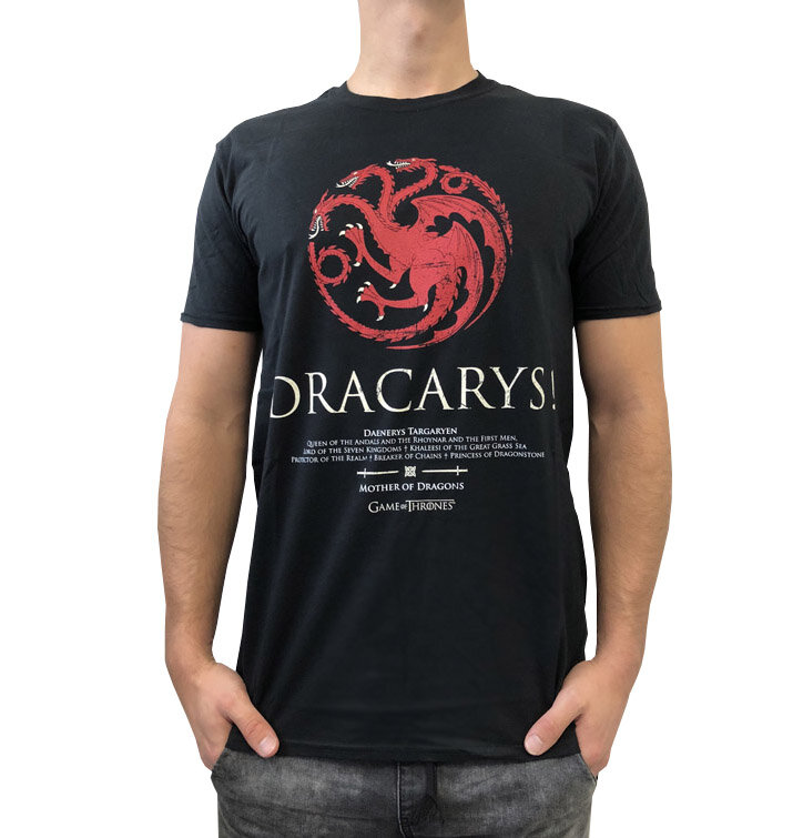 t shirt game of thrones dracarys dedoles. Black Bedroom Furniture Sets. Home Design Ideas
