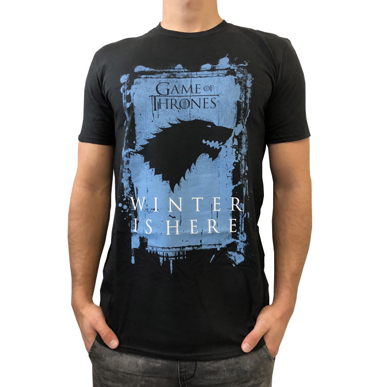 t shirt game of thrones winter is here house stark dedoles. Black Bedroom Furniture Sets. Home Design Ideas