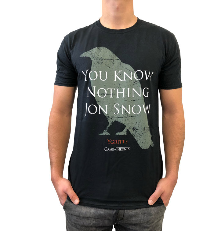 t shirt game of thrones you know nothing dedoles. Black Bedroom Furniture Sets. Home Design Ideas