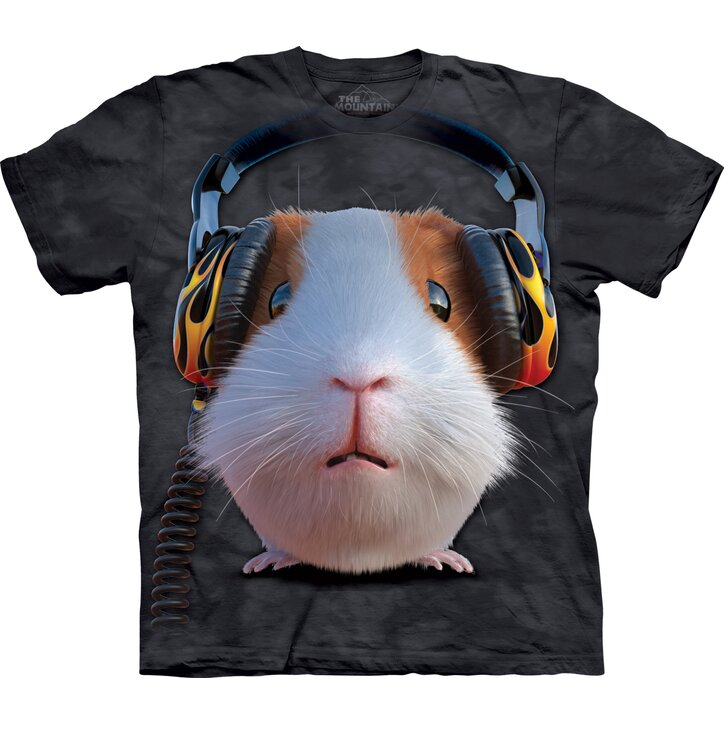 T-shirt with Short Sleeve DJ Guinea Pig