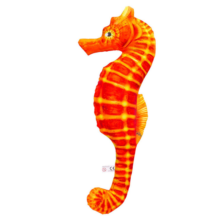 Vankúš Morský koník - oranžový 60 cm