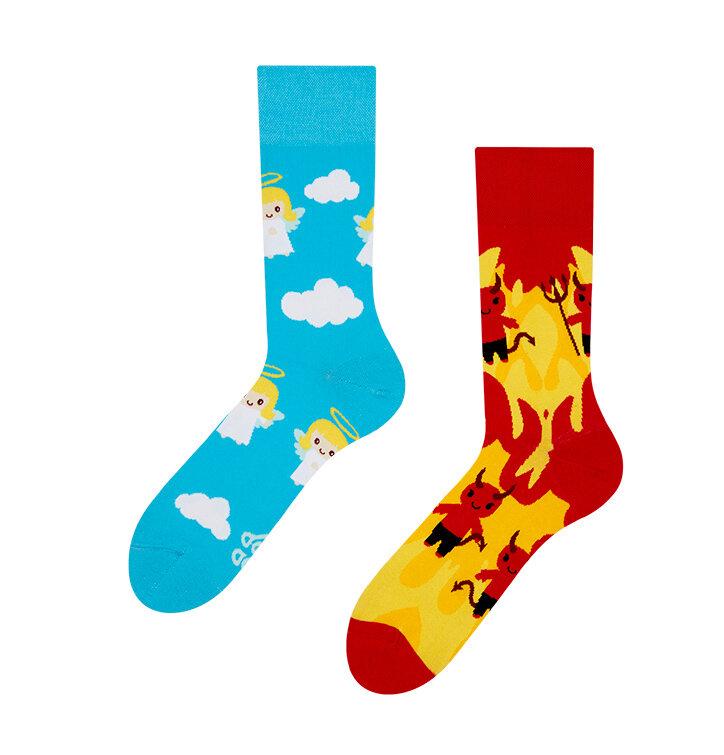Lustige Socken Engel und Teufel