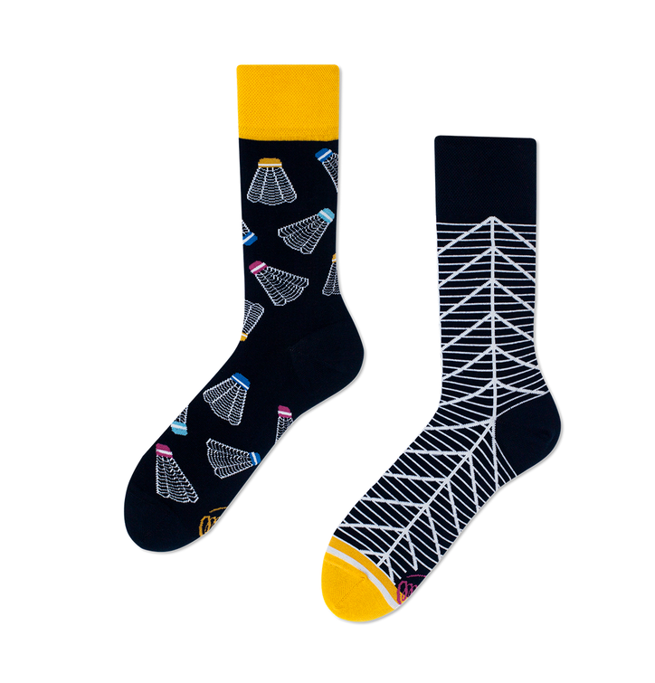 Veselé ponožky Badmintonový košík