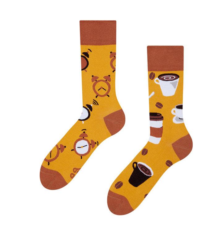 Lustige Socken Kaffeezeit