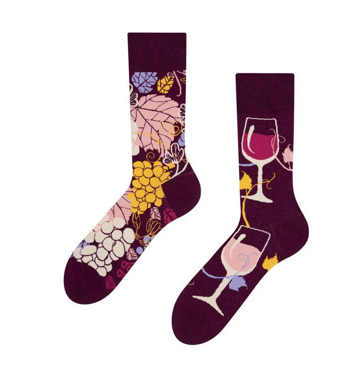 Vidám zokni Vörös bor
