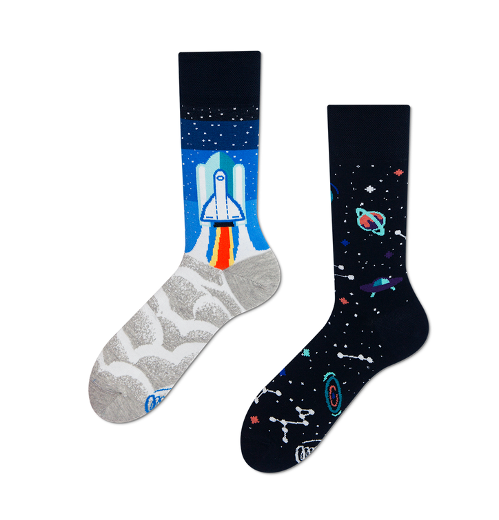 Many Mornings socks - Space Trip