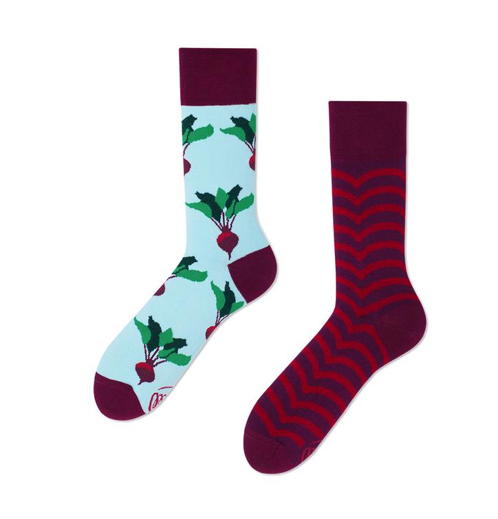 Veselé ponožky Cvikla