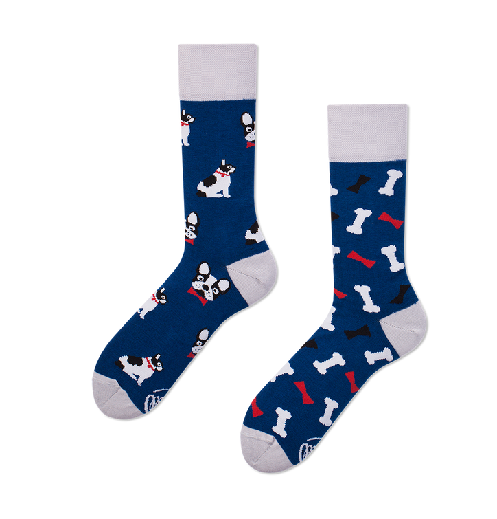 Many Mornings socks - French Bulldog