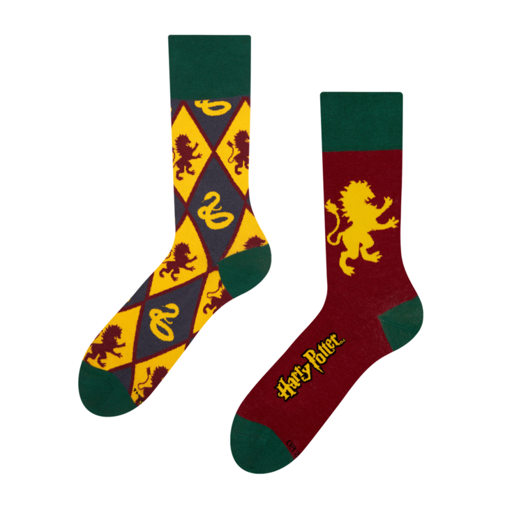 Lustige Socken Harry Potter ™ - Gryffindor vs. Slytherin