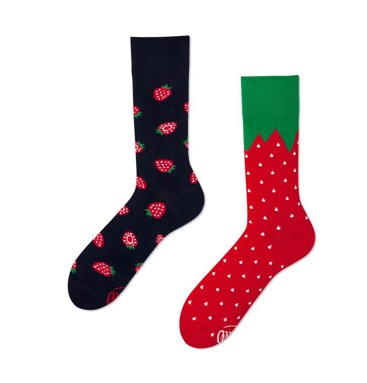 Lustige Socken Erdbeeren