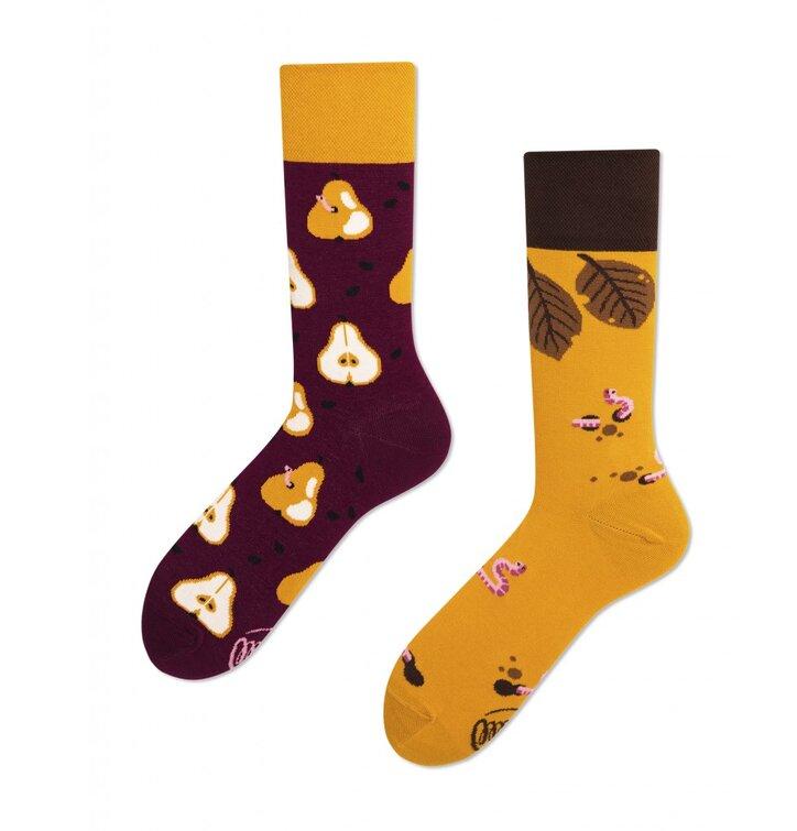 Veselé ponožky Podzim a hrušky