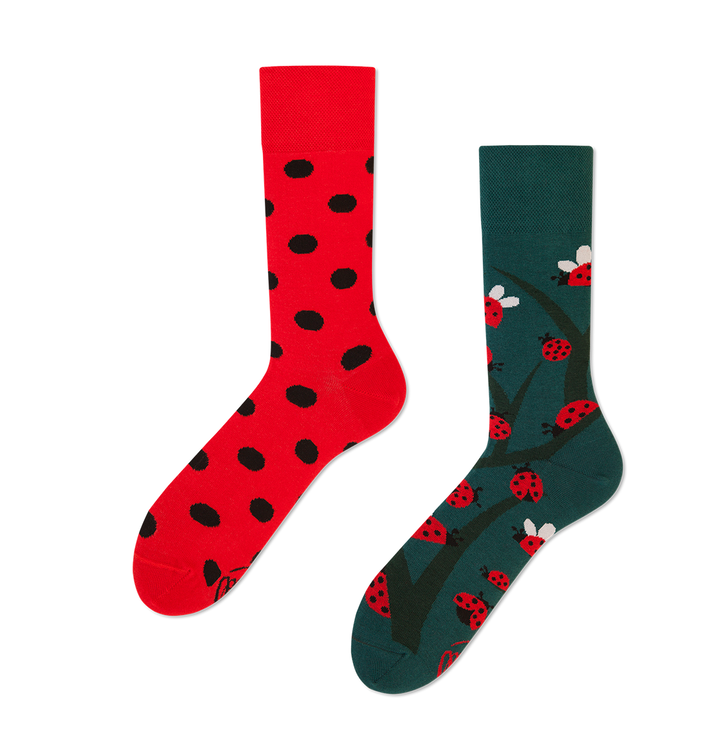 Funny Socks Many Mornings - Lady Bugs