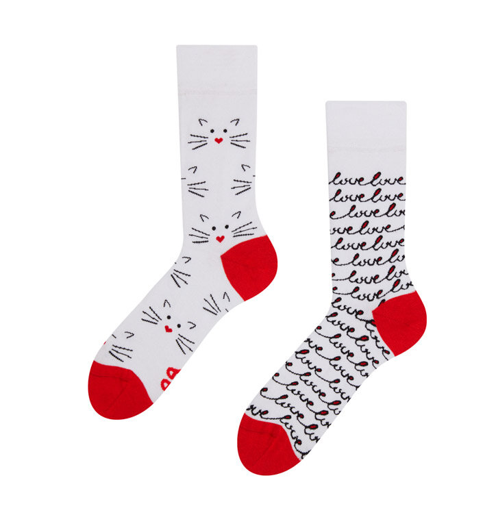 Veselé ponožky Mačacia láska