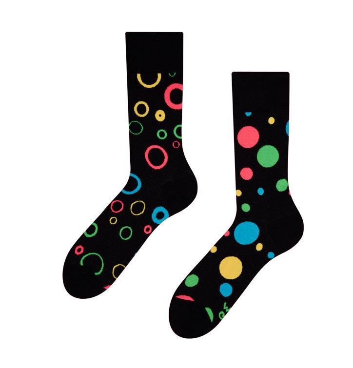 Veselé ponožky Neónové bodky