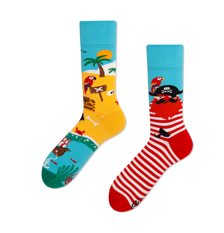 Lustige Socken Pirateninsel
