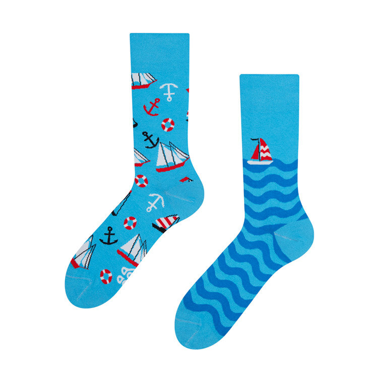 Lustige Socken Segeln