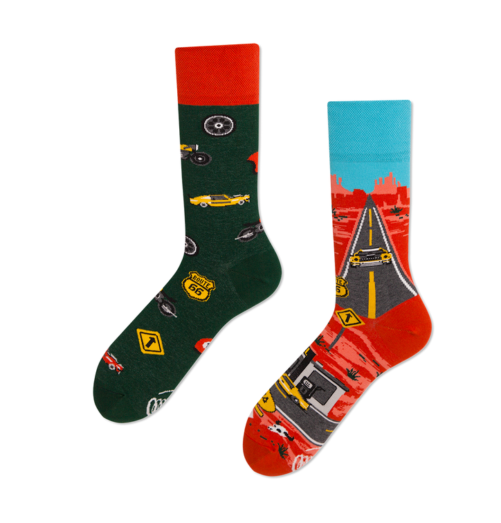 Veselé ponožky Route 66