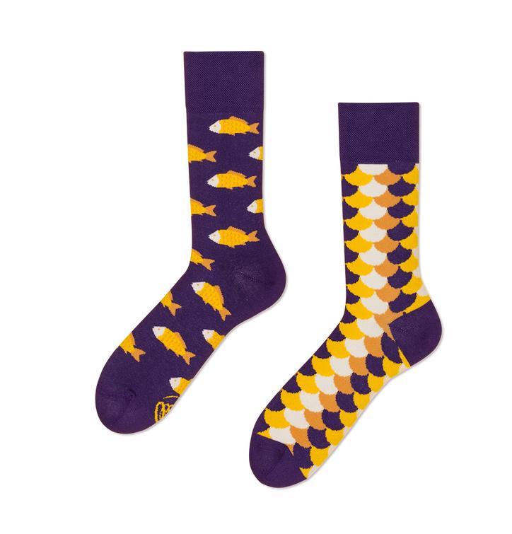 Funny Socks Many Mornings - Fish