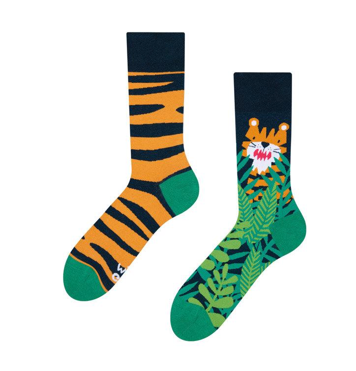 Lustige Socken Tiger