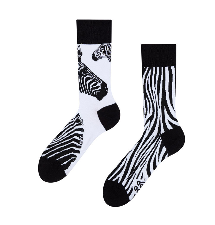Good Mood Socks - Zebra