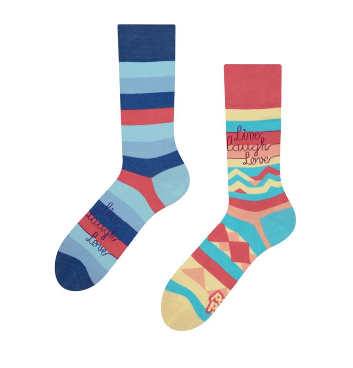 Good Mood Socks Live Love Laught