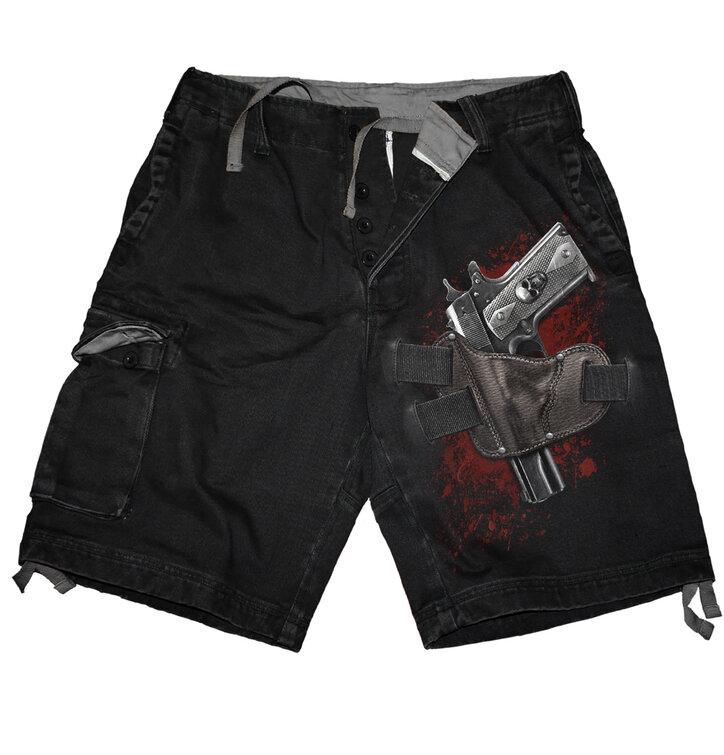 Férfi rövidnadrág Fegyver motívummal