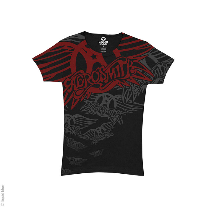 Tip na dárek Černé dámské hudební tričko Aerosmith Walk this way Black  Juniors 645bf770c0