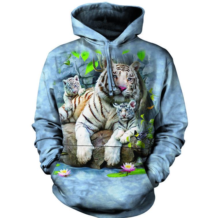 Bluza z kapturem Biały Tygrys bengalski