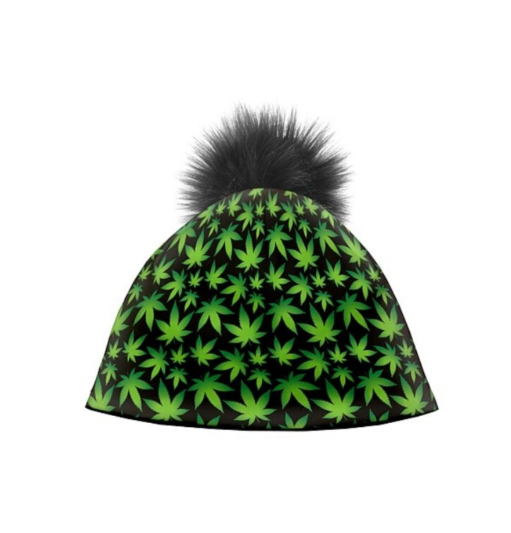 Zimná čiapka Zelené rastlinky