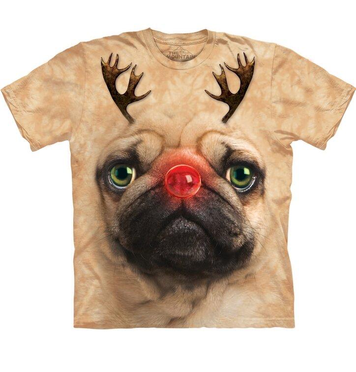 Pug Reindeer póló