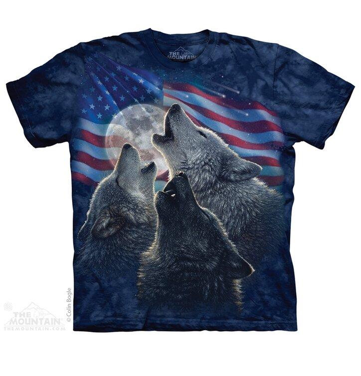 Tričko Americká trojice vlků