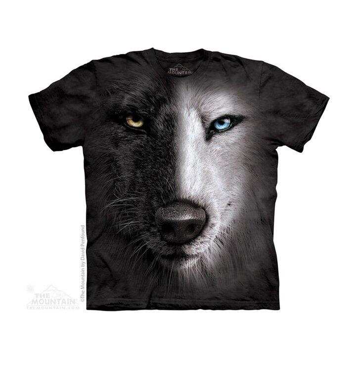 Black & White Wolf Face