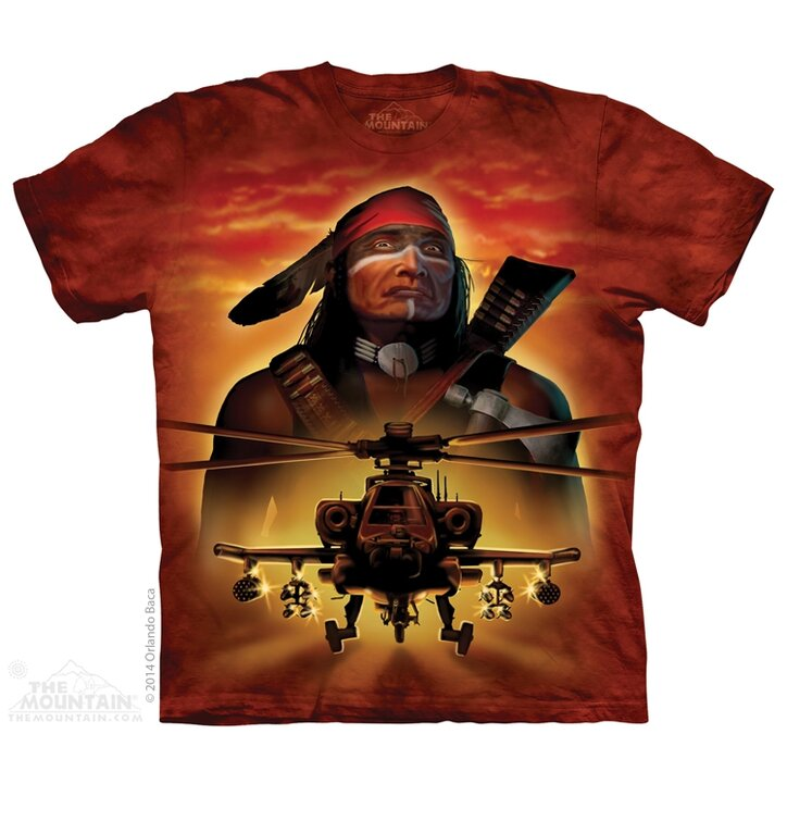 T-Shirt Indianischer Kämpfer