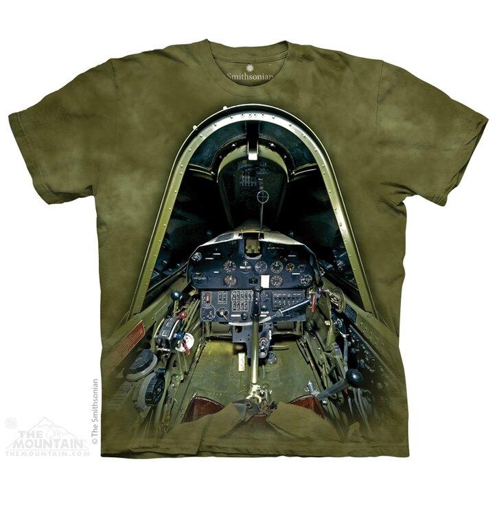 Kinder T-Shirt Cockpit vom Militärflugzeug