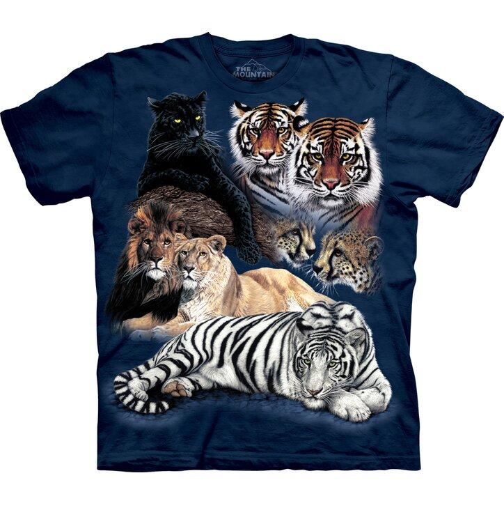 Kinder T-Shirt Collage von Großkatzen