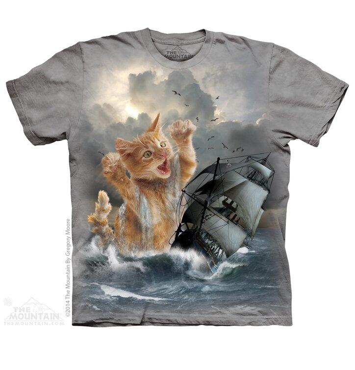 T-Shirt Katze Kraken