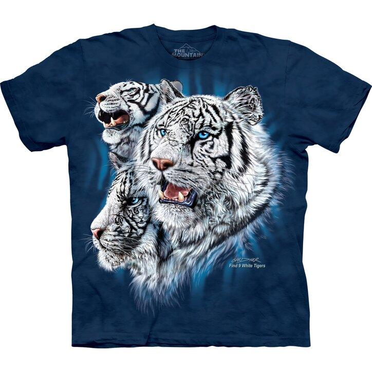 T-Shirt Finde 9 weiße Tiger