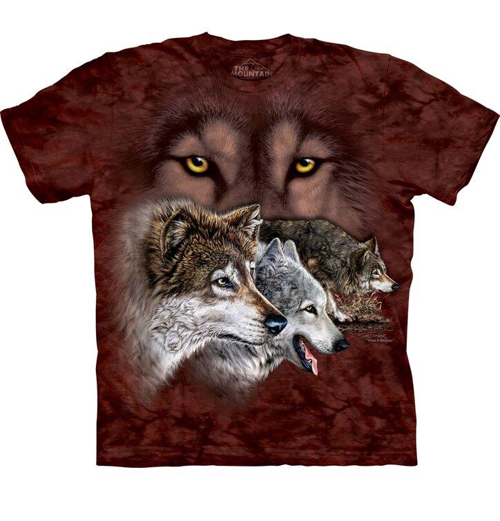 Tričko Nájdi 9 vlkov - detské