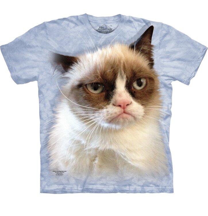 Detské, modré tričko Grumpy cat