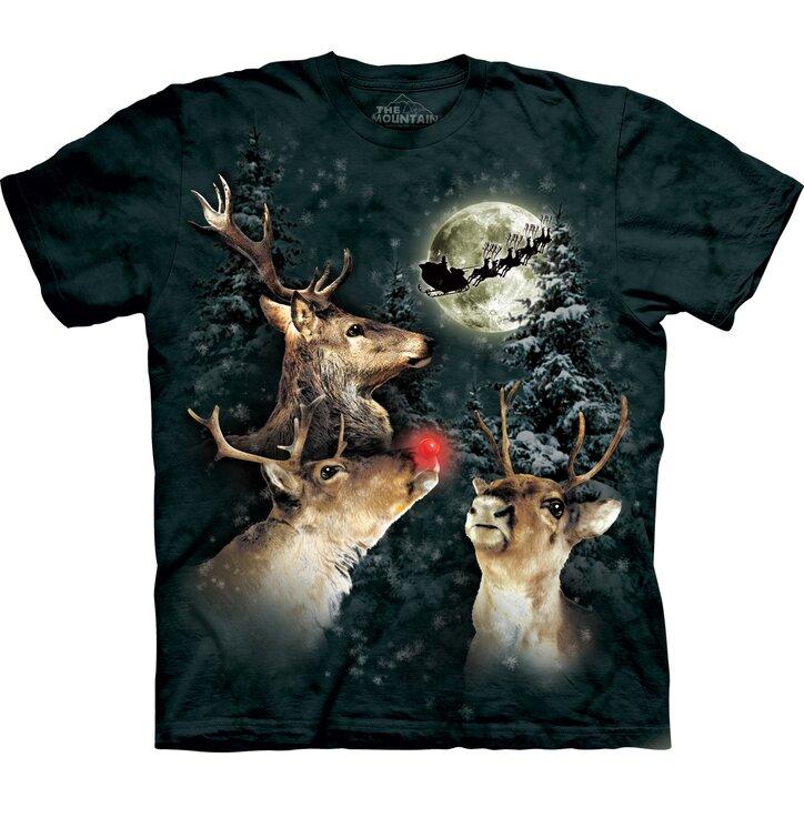 T-Shirt Rentier Rudolf mit roter Nase