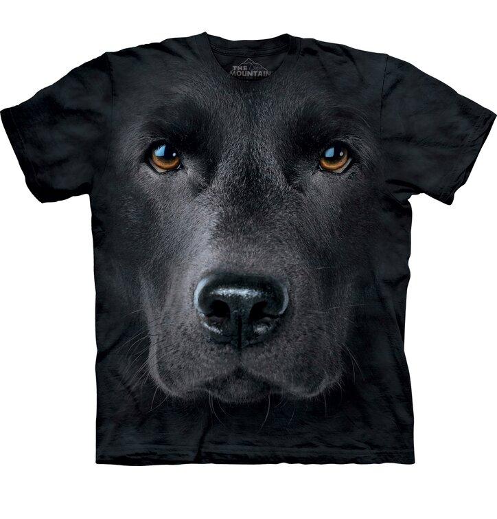 T-Shirt Schwarzer Labrador Gesicht