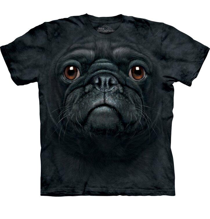 Black Pug Dog Face Child