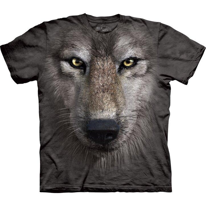 Tričko Obličej vlka - dětské