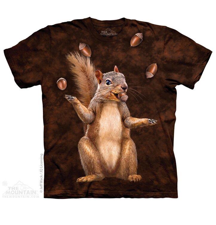 T-Shirt Eichhörnchen mit Nüssen